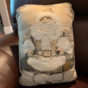 Old time santa Christmas pillow